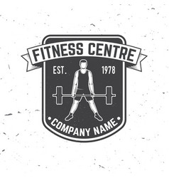 fitness centre badge for fitness centers vector image