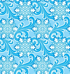 winter ornament seamlec vector image