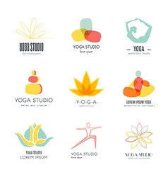 Yoga Logotypes Collection vector image