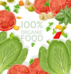 Background vegetarian fresh organic natural food vector image vector image