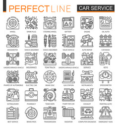 car repair service outline mini concept symbols vector image
