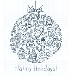 Christmas doodle vector