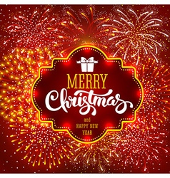 Christmas Firework vector image vector image