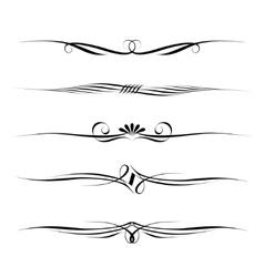 decorative filigree elements vector image vector image