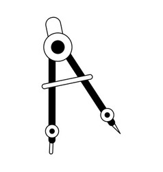 Drawing compass icon image vector