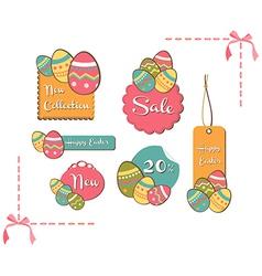 Easter eggs sales set background vector image