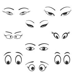 Eye icon set vector image
