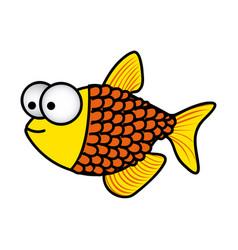 happy fish scalescartoon icon vector image vector image