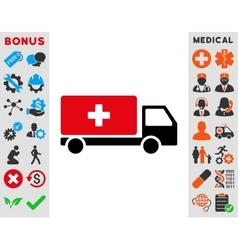 Medical Shipment Icon vector image