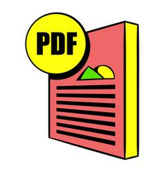 pdf file icon cartoon vector image