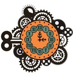 Steampunk mechanical watches vector