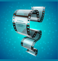 abstract cinema retro poster with film strip roll vector image vector image