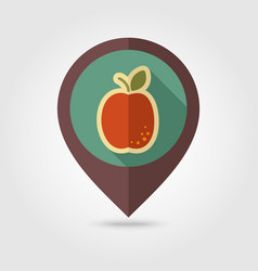 Apricot flat pin map icon fruit vector