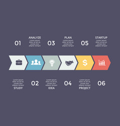 arrows timeline infographic diagram chart vector image vector image