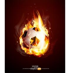burning football ball vector image