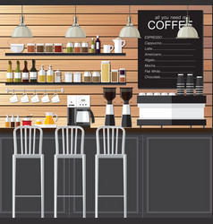 coffee shop design loft vector image vector image