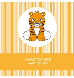 greeting card tiger vector image vector image