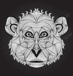 hand drawn decorative monkey vector image