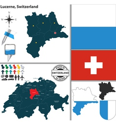 Map of lucerne vector