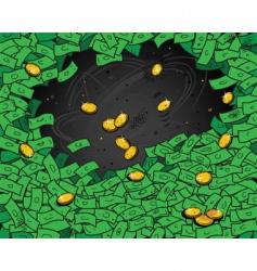 money wallpaper vector image vector image