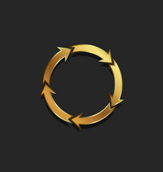 redo of arrows circle gold colored vector image vector image