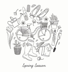 Spring Essential Icon Set vector image vector image