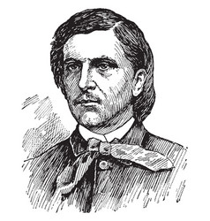 william barker cushing vintage vector image vector image