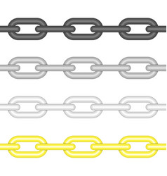 different colors chains link vector image vector image