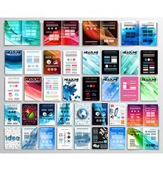 Set of Flyers background infographics brochures vector image vector image