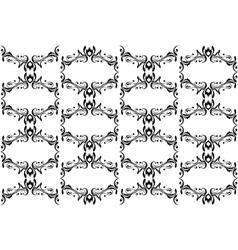 Vintage seamless background with decorative elemen vector image