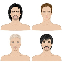 4 men vector