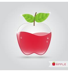 Apple fruit juice vector