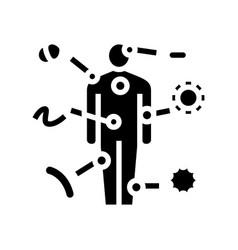 Autoimmune disease glyph icon vector