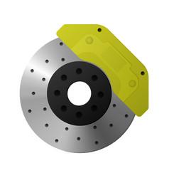 Brake disc caliper pad vector