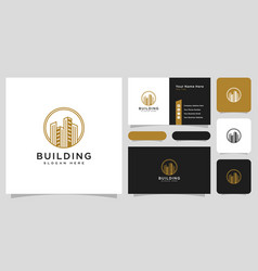Building real estate logo design and business vector