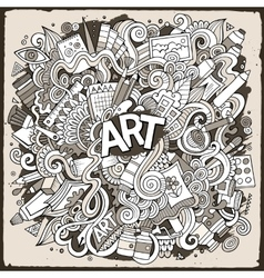 Cartoon cute doodles hand drawn Artistic vector