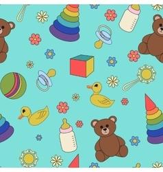 Children seamless pattern vector