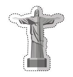 corcovade christ isolated icon vector image
