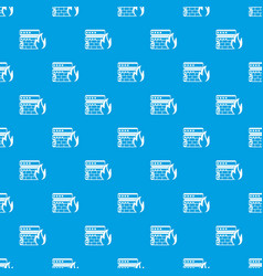 Database and firewall pattern seamless blue vector