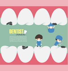 Dentists check up in your teeth and looking vector