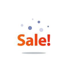 Discount shopping promotion advertising vector