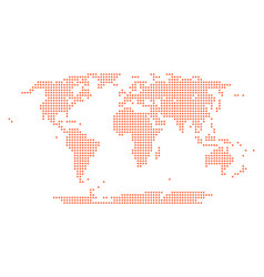 dotted world map round point vector image