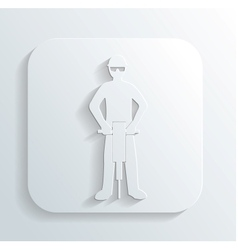 Driller icon vector