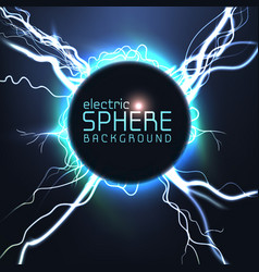 electric sphere blue light effect vector image