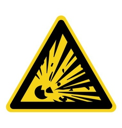 explosive hazard sign vector image
