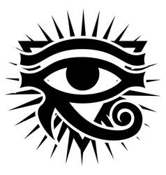Eye horus with rays sun ancient symbol vector