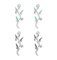 Fantasy floral decorative lines ornament vector