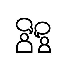 flat editable line people talk icon symbol sign vector image