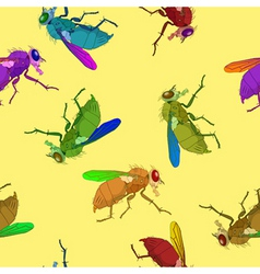 flies pattern vector image