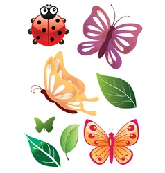 Floral Bugs vector image